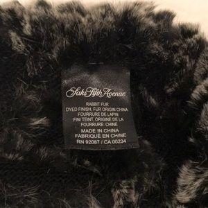 Saks Fifth Avenue Rabbit Fur Scarf